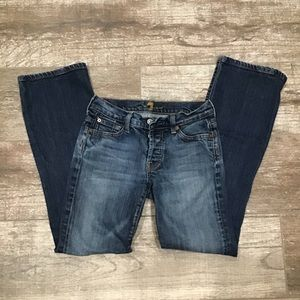 7 For All Mankind | button fly boy cut jeans